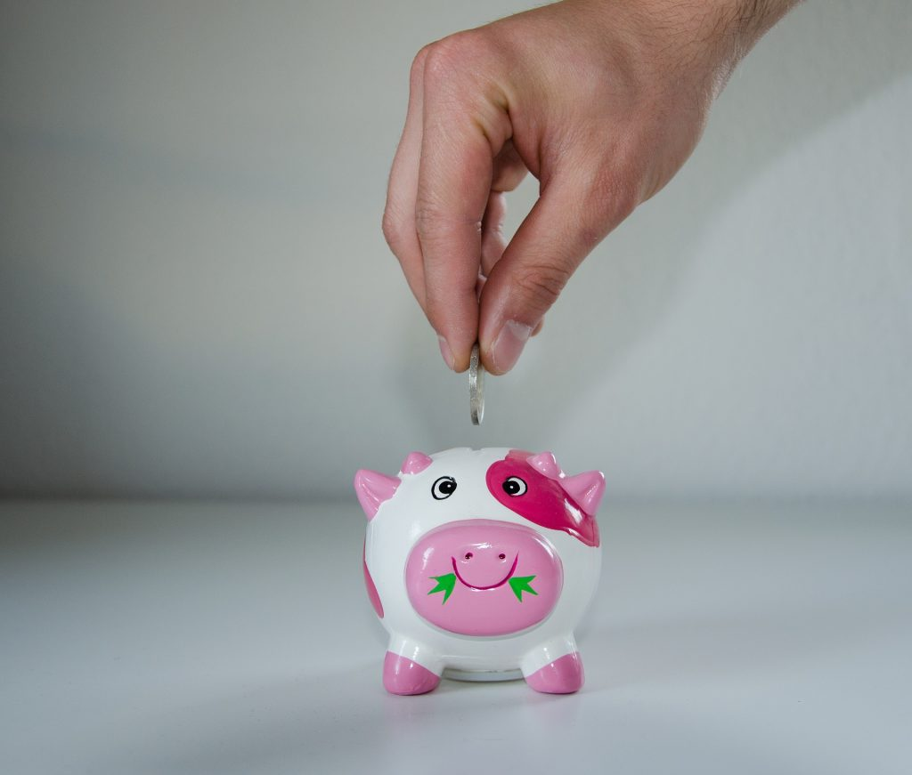 piggy bank save money for a mobile
