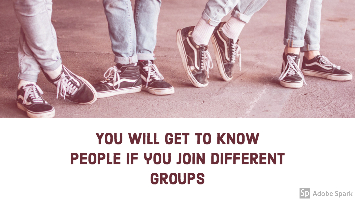 Group of feet for making friends article