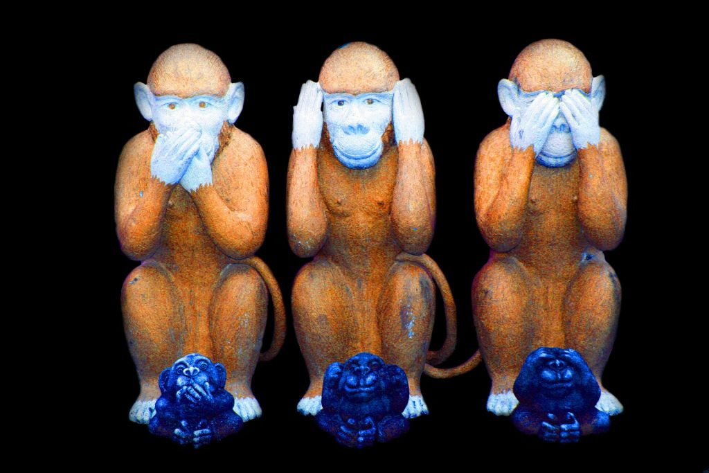 Three wise monkeys for Consent article