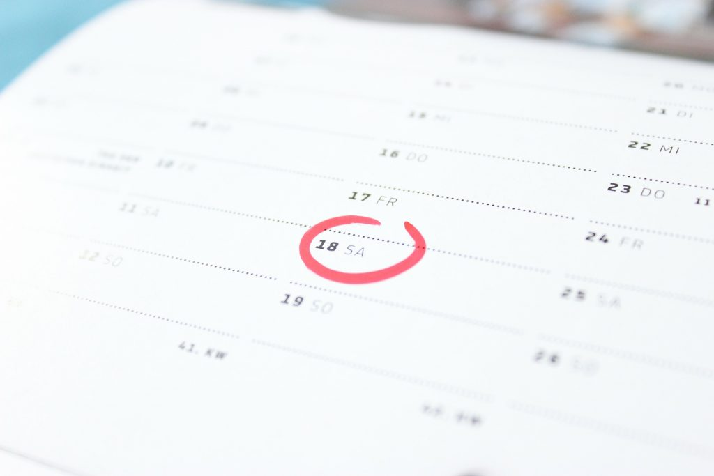 circled date on calendar for p is for periods article