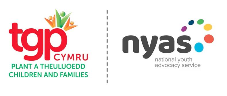 Logos TGP Cymru and NYAS Advocacy services
