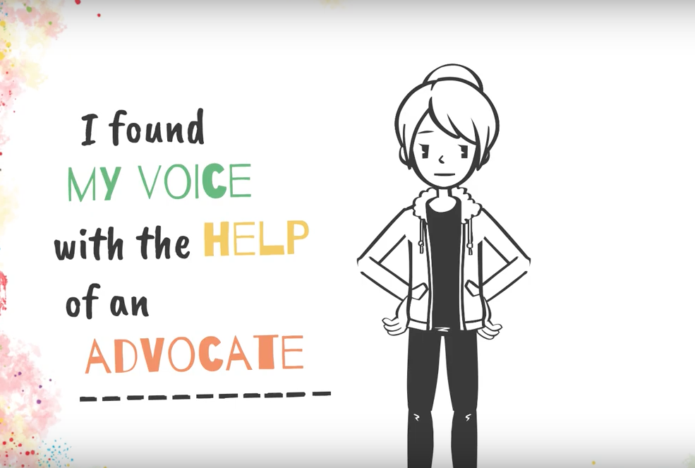 Still from TGP Advocacy video - I found my voice with the help of an advocate