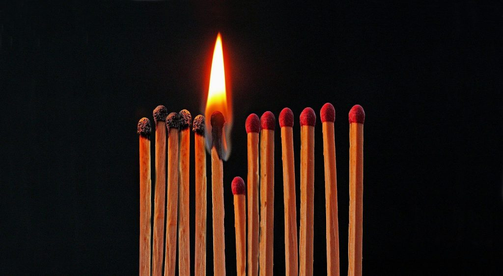 Benefits of social distancing using burning matches for GTM Meeting up with Friends