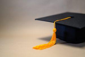 A-Level results Black Graduation Hat