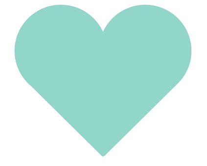 Light teal coloured heart