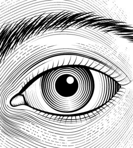 Drawing of an eye for Not Allowed Out With My Friends